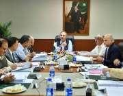 اسلام آباد: وفاقی وزیر برائے پاور سیکٹر عمر ایوب خان ایک اجلاس کی صدارت ..