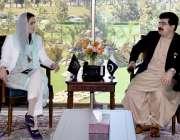 اسلام آباد: چیئرمین سینٹ صادق سنجرانی سے وزیر مملکت برائے موسمیاتی ..