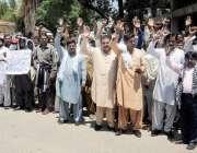 راولپنڈی: محکمہ البراک کے ملازمین تنخواہ نہ ملنے پر پریس کلب کے باہر ..