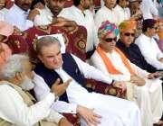 عمرکوٹ : وزیر خارجہ مخدوم شاه محمودقریشی کشمیریکجہتی جلسہ کے موقع پراسٹیج ..