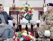 لاہور: وزیر اعلیٰ پنجاب عثمان بزدار سے وزیر اعلیٰ آفس میں کور کمانڈر ..