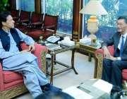 اسلام آباد: وزیر اعظم عمران خان سے پاکستان میں چینی سفیر یاؤ جِنگ نے ..