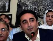 اسلام آباد: چیئرمین پی پی پی بلاول بھٹو زرداری پریس کانفرنس سے خطاب ..