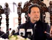 طورخم: وزیر اعظم عمران خان پریس کانفرنس سے خطاب کر رہے ہیں۔