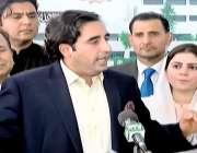 اسلام آباد: پیپلز پارٹی کے چیئرمین بلاول بھٹو زرداری پارلیمنٹ کے باہر ..