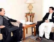اسلام آباد: قائم مقام صدر محمد صادق سنجرانی سینیٹر طلحہ محمود سے گفتگو ..