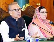 اسلام آباد: صدر مملکت ڈاکٹر عارف علوی (APNS) کے وفد سے خطاب کر رہے ہیں۔