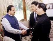 لاہور: وزیراعلی پنجاب سردار عثمان بردار اور چین کے میشنگ انٹرنیشنل ..