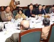 لاہور: سینئر وزیر پنجاب عبدالعلیم خان آئندہ سہ ماہی کیلئے محکموں کے ..