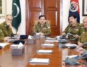 لاہور: آئی جی پنجاب کیپٹن (ر) عارف نواز خان سنٹرل پولیس آفس لاہور میں ..