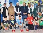 پشاور: دوسرا ڈی جی سپورٹس ٹیبل ٹینس ٹیلنٹ ہنٹ میں شریک کھلاڑیوں کا مہمان ..