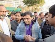 لاہور: قائد حزب اختلاف حمزہ شہباز پنجاب اسمبلی کے اجلاس میں شرکت کے ..