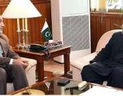 اسلام آباد: اسپیکر قومی اسمبلی اسد قیصر سے پارلیمنٹ ہاؤس میں ایران ..