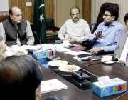 لاہور: صوبائی وزیر قانون و سوشل ویلفیئر راجہ بشارت واسا ہیڈ کوارٹر ..