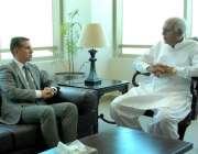 اسلام آباد:وفاقی وزیر برائے ایوی ایشن غلام سرور سے آذربائیجان کے سفیر ..
