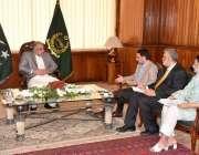اسلام آباد : سپیکر قومی اسمبلی اسد قیصر سے چیئر مین این ایچ اے ملاقات ..