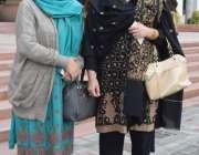 لاہور: پنجاب اسمبلی کے اجلاس میں شرکت کے بعد خواتین اراکین اسمبلی واپس ..