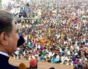 عمرکوٹ : وزیر خارجہ مخدوم شاہ محمود قریشی کشمیر یکجہتی جلسہ سے خطاب ..