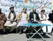 وزیرستان: قبائلی عمائدین افغان سیکیورٹی فورسز کے مشترکہ پریس کانفرنس ..