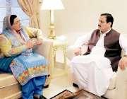 لاہور: اسلام آباد: وزیر اعلیٰ پنجاب سے وزیر اعظم کی معاون خصوصی برائے ..