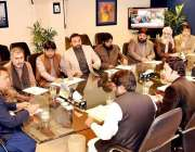 اسلام آباد: وفاقی وزیر اطلاعات نشریات فواد حسین چودھری سے خیبر پختونحوا ..
