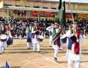 راولپنڈی: راولپنڈی ویمن یونیورسٹی میں سالانہ سپورٹس ڈے کے دوران طلبا ..