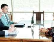 اسلام آباد: وفاقی وزیر برائے انسانی حقوق ڈاکٹر شیریں مزاری سے رومانیہ ..