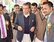 مظفر آباد: وزیر اعظم آزاد کشمیر راجہ فاروق حیدر خان سنٹرل پریس کلب میں ..