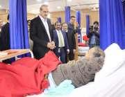 اسلام آباد: وفاقی وزیر صحت عامر محمو کیانی پمز میں مریضوں کی عیادت کر ..