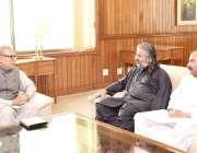 اسلام آباد: صدر مملکت ڈاکٹر عارف علوی سے ایم این اے نوابزادہ شاہ زین ..