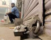 لاہور : تاجر تنظیموں کی جانب سے شٹر ڈاؤن ہڑتال کی کال پرانار کلی بازار ..