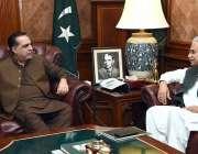 کراچی: گورنر سندھ عمران اسماعیل سے وزیر مملکت ڈاکٹر ظفر مرزا ملاقات ..