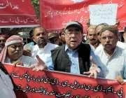 حیدر آباد: متحدہ لیبر فیڈریشن سی بی اے لاکھڑا کی طرف سے اپنے مطالبات ..