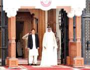 دوحہ: وزیر اعظم پاکستان عمران خان امیر قطر شیخ تمیم بن حمدالثانی کے ..