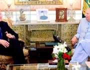 لاہور: گورنر پنجاب چوہدری محمد سرور سے ڈ پٹی برطانوی ہائی کمشنر مائیکل ..
