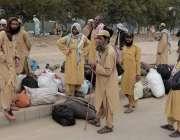 اسلام آباد: جمعیت علماءاسلام (ف) کے کارکنان آزادی مارچ دھرنا سائٹ  H-9 ..