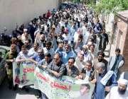 راولپنڈی: پاکستان واپڈا ہائیڈرو الیکٹرک ورکرز یونین کے کارکنان مطالبات ..