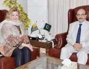 اسلام آباد: صدر آزاد جموں و کشمیر سردار مسعود خان سے پاک آسٹریا سوسائٹی ..