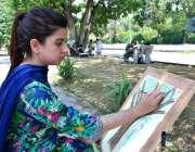 اسلام آباد: این سی اے سمر کیمپ2019کے موقع منعقدہ آئل پینٹنگ، واٹر کول ..