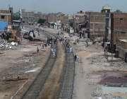 حیدر آباد: لطیف آباد ریلوے پھاٹک سے آگے اسٹیشن کی طرف سگنل تک تجاومات ..