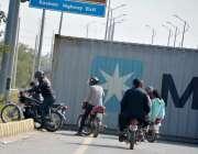 اسلام آباد: وفاقی دارالحکومت میں H-9 پر جے یو آئی-ایف کے آزادی مارچ کے ..