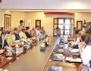 اسلام آباد: وفاقی وزراء اور مشیر وزیر اعظم عمران خان کی زیر صدارت اجلاس ..