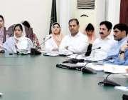 لاہور: ڈپٹی کمشنر لاہور صالحہ سعید ریونیو کمیٹی کے حوالے سے اجلاس کی ..