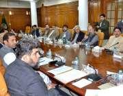 کوئٹہ: وفاقی وزیر برائے پٹرولیم غلام سرور خان اعلیٰ سطحی اجلاس کی صدارت ..