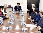 اسلام آباد: چیئرمین سینیٹر محمد صادق سنجرانی سے پشاور پریس کلب کا وفد ..