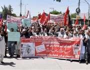 کوئٹہ: پاکستان ورکرز کنیڈریشن بلوچستان (رجسٹرڈ) کے زیر اہتمام یوم مئی ..