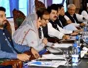اسلام آباد: سینیٹرسراج الحق، چئیر مین کشمیر کمیٹی فخرامام، وزیراعظم ..
