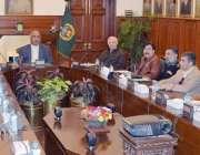 پشاور: گورنر خیبر پختونخوا شاہ فرمان اعلیٰ سطحی اجلاس کی صدارت کر رہے ..