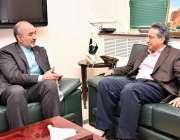 اسلام آباد: وزیر اعظم کے معاون خصوصی برائے پٹرولیم مصنوعات نعیم بابر ..
