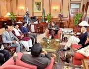 اسلام آباد: وزیر اعظم عمران خان سے ایم کیو ایم کے ارکان قومی اسمبلی ..